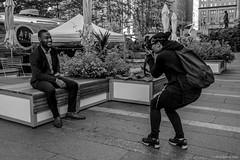 The Photographer (kartofish) Tags: photography monochrome portrait philadelphia cityhall pennsylvania courtyard fuji fujifilm xt2 primelens fujinon 23mmf19 centercity