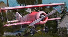 Flightpath (KittyBlue Rae) Tags: secondlife solo flying plane netherfield netherwood