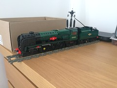 Merchant Navy V2 WIP (technoandrew) Tags: lego train model steam engine locomotive railway merchant navy class southern canadian pacific 35005 progress update tender 7wide new