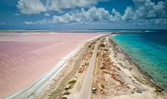 Bonaire Salt Flats (Brook-Ward) Tags: hdr brook ward dji drone aerial landscape seascape bonaire salt flats caribbean ocean sea water beach sand island travel holiday vacation