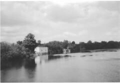 Across the Flat River (B&W) (neukomment) Tags: ilfordhp5plus400bw film filmphotography canonsureshot85zoom lowellmi michigan usa bw blackwhite summer august 2018
