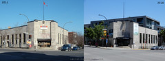 Before /After: Canada Post ( St Henri) (Vanishing Montréal) Tags: history villedemontreal montreal histoire photography art architecture demolition disappearinghistory newconstruction