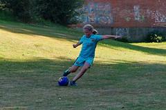 The kick (Steenjep) Tags: fodbold soccer football play spil græs bold ball kick spark game adidas