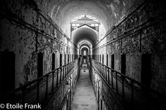 The Light at the End (Etoile Frank) Tags: prison cellblock philadelphia pa bw eastern state penn urbex decay