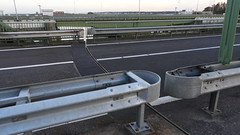 DSCN8837 (DutchRoadMovies) Tags: stevinsluizen afsluitdijk den oever a7 rijksweg ijsselmeer waddenzee bridge lake freeway motorway water sea locks