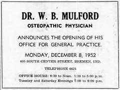 1952 - Dr Mulford - 405 S Center - Enquirer - 4 Dec 1952