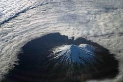 Mt Taranaki/Egmont surrounded by cloud. (Maureen Pierre) Tags: flight air view landscape volcano dormant cloud mountain mtegmont mttaranaki newzealand