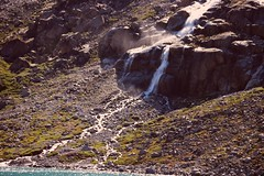 PCS Waterfall (sobergeorge) Tags: vov2018 voyageofthevikings sobergeorge bysobergeorge greenland deepnorth canond80 geotag gps msrotterdam landscape greenlandlandscape mountainouslandscape summercruise waterfall pcswaterfall