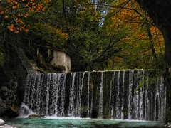Pozar waterfall..thermal baths Macedonia Greece (panoskaralis) Tags: waterfall water river forest wood tre oaktrees oaks building abandoned oldbuildings pozar hotsprings macedonia greece greek hellas hellenic nikoncoolpixb700 nikon nikonb700 inside autumn leaves macedoniagreece