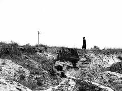 Far away miner (A. Yousuf Kurniawan) Tags: silhouette monochrome minimalism minimalist blackandwhite streetphotography rurallife borneo kalimantan decisivemoment miner