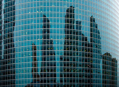 Moscow city reflection (Maxim Baskov) Tags: moscow city business glass reflections urban