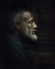 Willie Profile (mckenziemedia) Tags: homeless homelessness portrait portraiture lowkey dark shadows city urban chicago profile man beard grandfather
