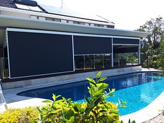 Awning Worx Motorised Retractable External Zip Blinds (office@awningworx.com.au) Tags: awnings brisbane motorised external zip screens