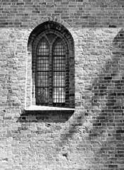 Sankt Nicolai Kirke (holtelars) Tags: pentax 645 pentax645 645n 6x45 smcpentaxfa 4585mm f45 120 film 120film fomapan fomapan200 fomapan200creative 100iso mediumformat analog analogue blackandwhite classicblackwhite bw monochrome filmforever ishootfilm filmphotography d76 jobo atl1500 homeprocessing larsholte køge denmark danmark architecture window church brickwork