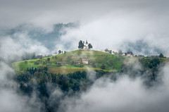 St. Thomas sorrounded by mist (Aljaž Vidmar | ADesign Studio) Tags: morning slovenia stthomas classic gorenjska church nature mist mountains landscape fog slovenija green forest clouds