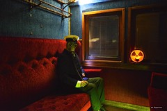 The Passenger (Bo Ragnarsson) Tags: passenger thezone radioactive biohazard gasmask train nighttrain night fallout stalker kupé tåg gbbj chernobyl pripyat postnuclear postapocalyptic apocalypsedeacadence boragnarsson