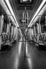 B1 (laura sinapi) Tags: metropolitana roma rome metro subway vagone coach biancoenero bw blackwhite bn blackandwhite prospettiva perspective