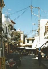 Rethymnon (J_Piks) Tags: 1998 greece ellada kriti crete road street telegraphpoles rethymnon