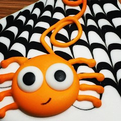 Silly Spider ..... (steamboatwillie33) Tags: cookie decorated halloween 2018 royalicing orange spiderweb food snack silly homemade dessert