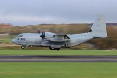 167985  Yet another US Marine C130 (Dougie Edmond) Tags: military aircraft airplane airport egpk pik prestwick scotland unitedkingdom gb