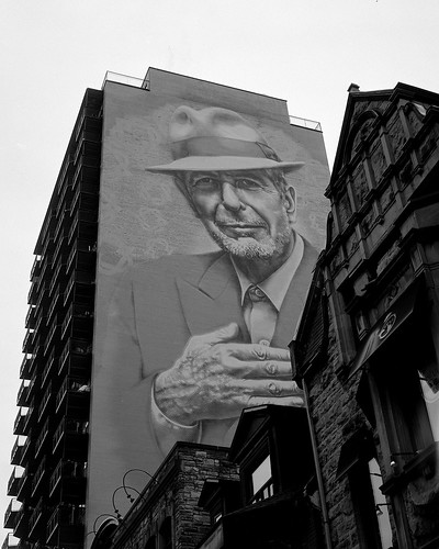 Leonard Cohen Mural Crescent Street A Photo On Flickriver