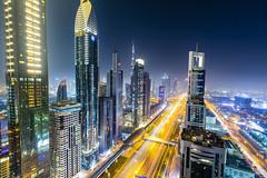 Dubai Skyline #2 (sibijohn photography) Tags: dubai level43 sheikh sahid road sibi john skyline cityscape bluehour