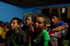 Students listening at Wanla Secondary School, image: S Jigmet