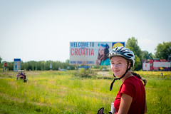 A really interesting welcome to Croatia sign.