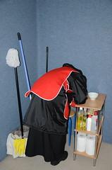 DSC_3489 (Warm Clothes Fetish) Tags: slave maid hot warm sweat torture boots coat fleece fur anorak apron rainwear winter