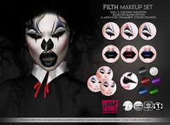 Dotty's Secret - Filth - Makeup Set (Dotty's Secret - Drag Queen Make-up) Tags: ad ads advertising secondlife avatar dottyssecret dottysecret applier original creation catwa omega classic shop shopping sl marketplace makeup fashion head eyeshadow lipstick fierce fishy lgbt eleganza fabulous dragqueen drag queen lelutka halloween scary clown