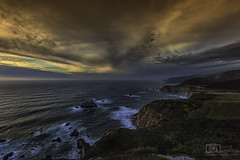 Hurricane Point (Dave Arnold Photo) Tags: ca cal calif california bigsur bixbybridge seastack haystack beach pacificocean longexposure coast coastal sea wave sunset seascape landscape rural milkywater water west pic picture us usa photo arnold photography photographer davearnold photograph davearnoldphotocom tide geology beautiful awesome viral fantastic top best wonderful canon mkiii 5d scene sensational wet nature natural lover le highway1 pch pacificcoasthighway how where