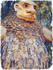troll hunt. september 2018 (timp37) Tags: troll hunt september 2018 illinois niels bragger statue lisle morton arboretum photolab