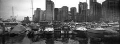 Vancouver - Film Hasselblad (Photo Alan) Tags: vancouver vancouverdowntown city cityscape cityofvancouver water boat reflection film filmcamera filmscan filmhasselblad hasselbladxpan blackwhite blackandwhite monochrome canada hc110 kodaktrix400 kodak 5063 tx kodak5063tx