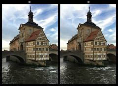 Bamberg, old guild hall in 3D (gorch_de) Tags: building historic halftimber timber wildwater germany townhall guildhall bamberg