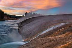 Firehole River (PhotoJacko - Jackie Novak) Tags: yellowstonenationalpark sunrise longexposure gndfilter leefilternd6softgnd nature landscape jackienovakphotography canon6d fireholeriver