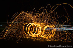 Light Painting (Peter.Stokes) Tags: lightsabre painting night photography fun lightpainting fire spinning