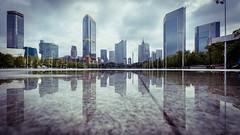 倒影天河 (kevinho86) Tags: eos6d ef1635f4lusm canon colour city cityscapes reflection water wideangle sky skyline skyscraper cloudy 都会 art architecture 建築 天際線 canton guangzhou pearlrivernewtown 珠江新城