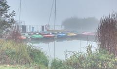 Nebel_Boote (photon_de) Tags: dusk mist morning light lake long exposure fog atmosphere tree trees böblingen see nebel water nature park