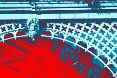 Terrace (colour) (Peter Rea 13) Tags: architecture art artistsontumblr abstract biutifulpics brighton city d300s design experimental gradient imiging red turquoise lensblr lightisphotography nikon originalphotographers originalphotography photographersontumblr peterreaphotography photography pws p58 streetphotography submission street telescopical urban xonicamagazine ycphotographs arches madeira drive terrace sculpture head beard boss