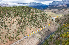 UP Special at Little Gore Canyon (Kyle Yunker) Tags: union pacific up ocs officer special passenger train little gore canyon colorado sd70ah 1943