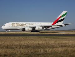 A6-EDV, Airbus A380-861, c/n 101, Emirates, CDG/LFPG 2018-10-15, taxiway Bravo-Loop, heading to runway 09R, bound to DXB. (alaindurandpatrick) Tags: ek uae emirates emiratesairlines airlines a6edv cn101 a380 a388 a380800 airbus airbusa380 airbusa380800 megabus jetliners airliners cdg lfpg parisroissycdg airports aviationphotography