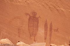 Behold, The Comet Thrower! (W9JIM) Tags: moab utah unitedstates w9jim rockart pictograph hellroaringcanyon 5d4 24105l yellowcometpanel cometcatcher canoneos5dmarkiv ef24105mmf4lisusm explore