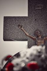 —Yo soy la resurrección y la vida. El que cree en mí vivirá, aunque muera; y todo el que vive y cree en mí no morirá jamás. (elena m.d.) Tags: 1denoviembre new todoslossantos cementerio guadalajara elena nikon d5600 sigma sigma105 street