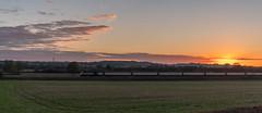 HST (Peter Leigh50) Tags: train railway railroad rural rail west langton langtons landscape landschaft sunset evening fujifilm fuji field farmland xt2 hst high speed