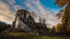 The royal watchtower - Strażnica Przewodziszowice (Andrzej Kocot) Tags: andrzejkocot landscape sunrisemood sunrise clouds sky rock grass nature colors autumn world europe poland 2018 landscapes