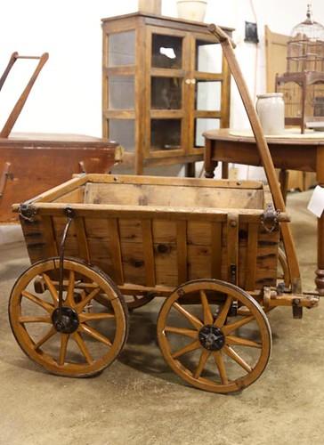 Wooden goat wagon with wood spoke wheels ($235.20)