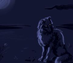 canine dark (coldmonster) Tags: animal canine wildlife digitalart original originalart speedsketch sketch sketching wolf dog night dark darkness nature blue moody artsy feral illustration awaiting