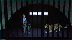 Qui est le plus félin ? (Tim Deschanel) Tags: tim deschanel sl second life exploration voir gallery topaz square galerie exposition animal chat tigre cat félin