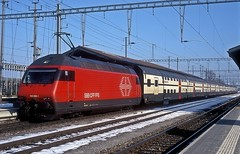 460 058  Pfäffikon  16.02.10 (w. + h. brutzer) Tags: pfäffikon eisenbahn eisenbahnen train trains schweiz switzerland railway elok eloks lokomotive locomotive zug 460 sbb webru analog nikon