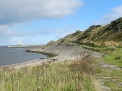 Coastal View, Greyhope Bay, Aberdeen, Sep 2018 (allanmaciver) Tags: coastal view grass greyhope bay aberdeen harbour north east sea path walk enjoy rain allanmaciver
